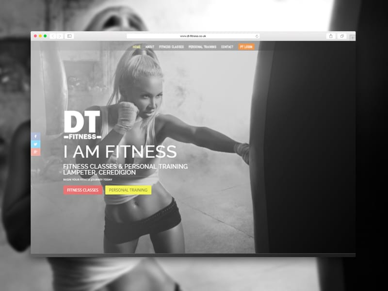 DT-Fitness Personal Trainer Website Link