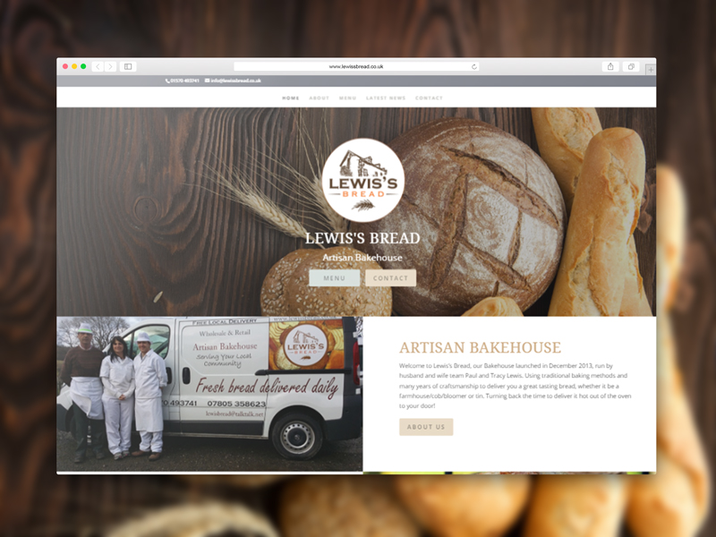 Lewis's Bread Website Link